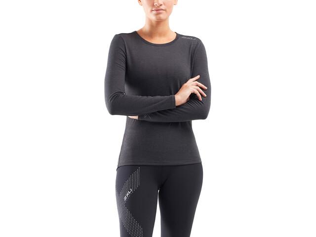 2XU Heat Base Layer Camiseta Manga Larga Mujer, negro